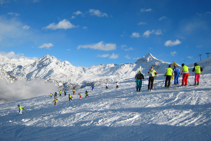 Het gebied van de Ski stock fotografie
