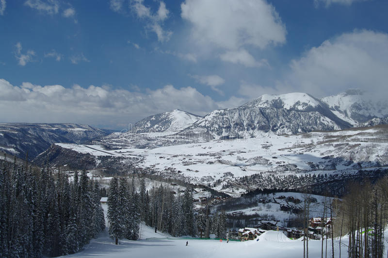 Het Gebied van de Ski van het telluride royalty-vrije stock afbeeldingen