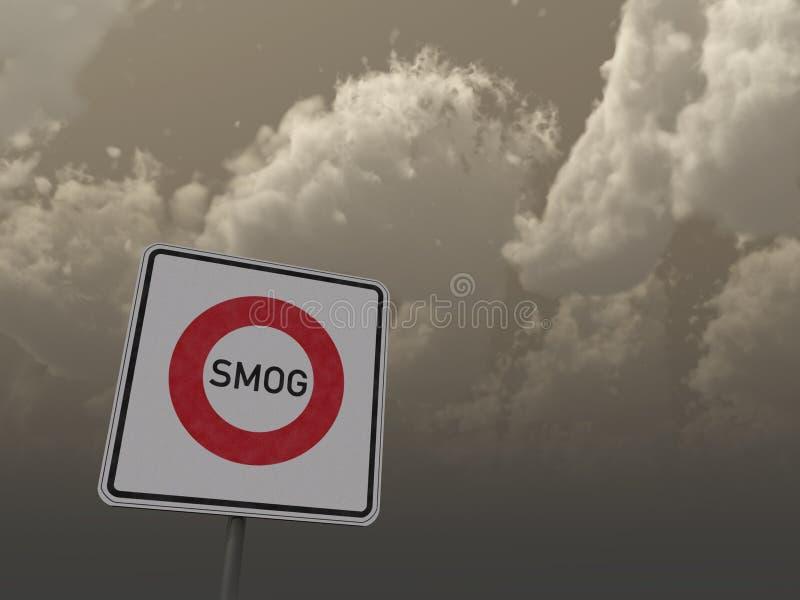 Het gebied van de smog vector illustratie