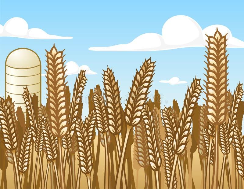 Het Gebied van de tarwe vector illustratie