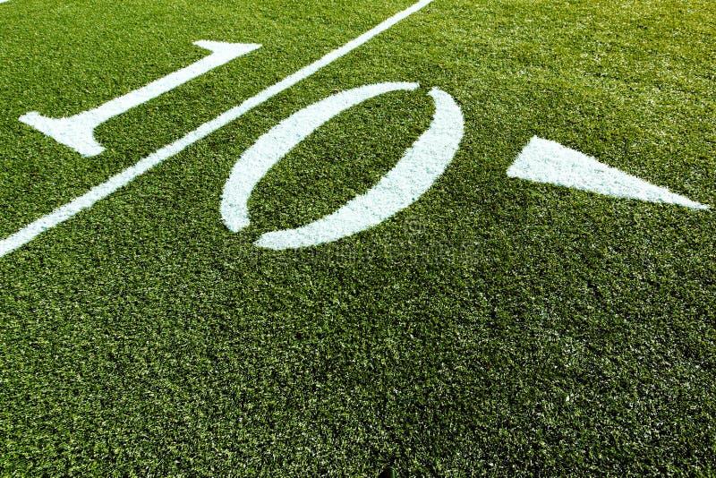 Het Gebied van de voetbal 10 yards royalty-vrije stock afbeeldingen