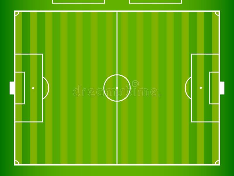 Het Gebied van de voetbal royalty-vrije illustratie
