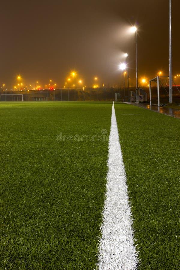 Het gebied van de voetbal royalty-vrije stock afbeeldingen