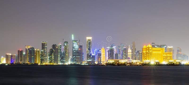 Het gebied van de het westenbaai van Doha, Qatar royalty-vrije stock afbeelding