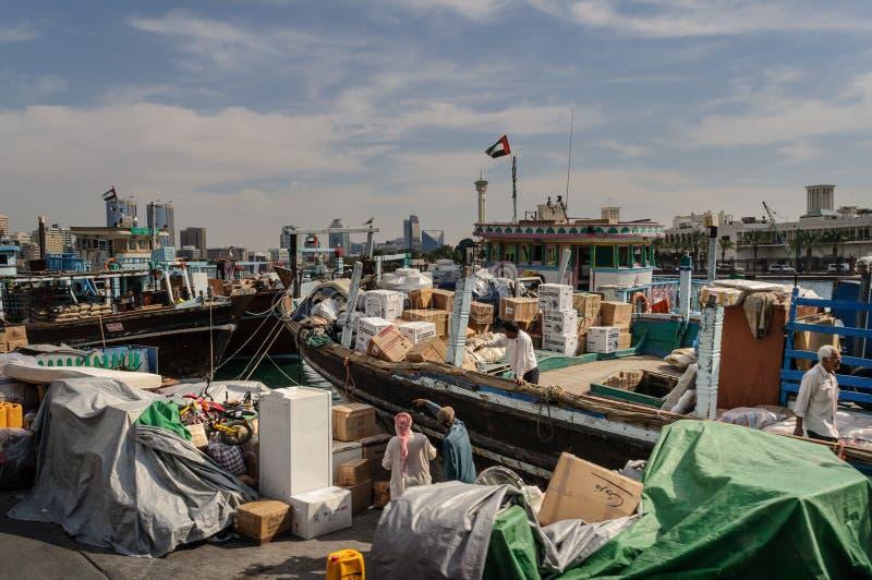 Het gebied van dienst Doubai, westelijke kant van de Kreek van Doubai stock foto's