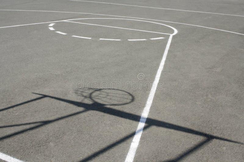 Het gebied van het basketbal royalty-vrije stock afbeeldingen