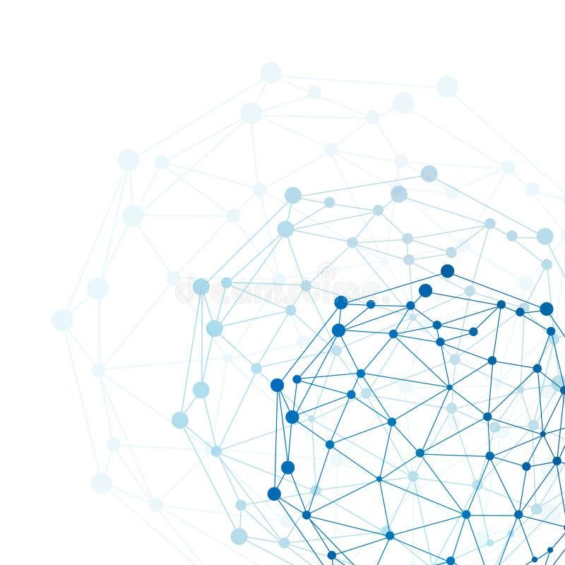 Het gebied van het draadkader. Netwerkconcept vector illustratie