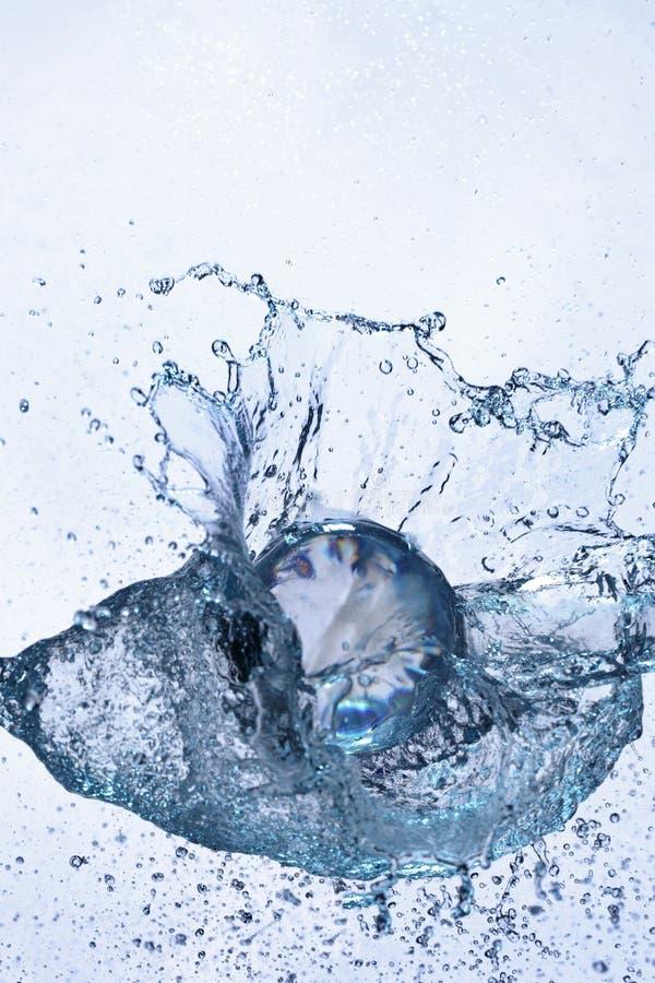 Het gebied van het glas in water stock afbeelding
