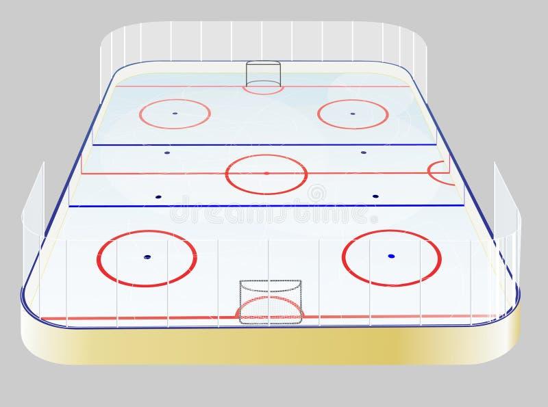 Het gebied van het ijshockey royalty-vrije illustratie
