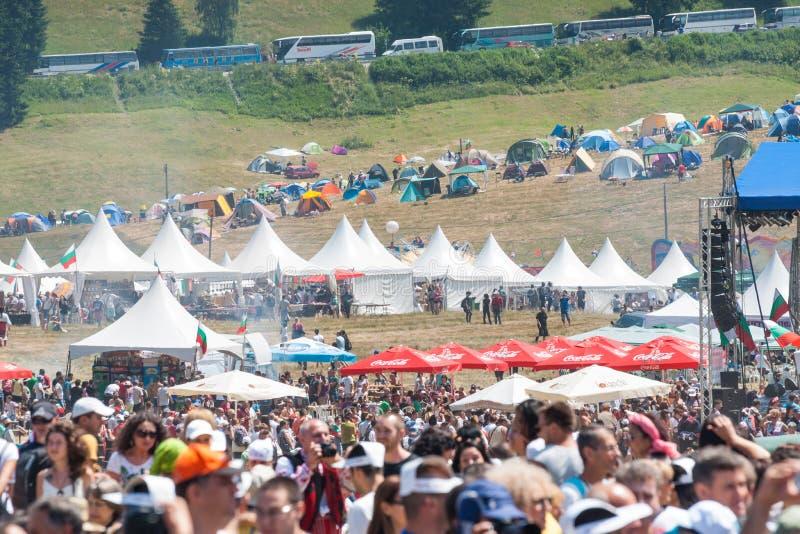 Het gebied 2015 van het Rozhenfestival in Bulgarije royalty-vrije stock afbeelding