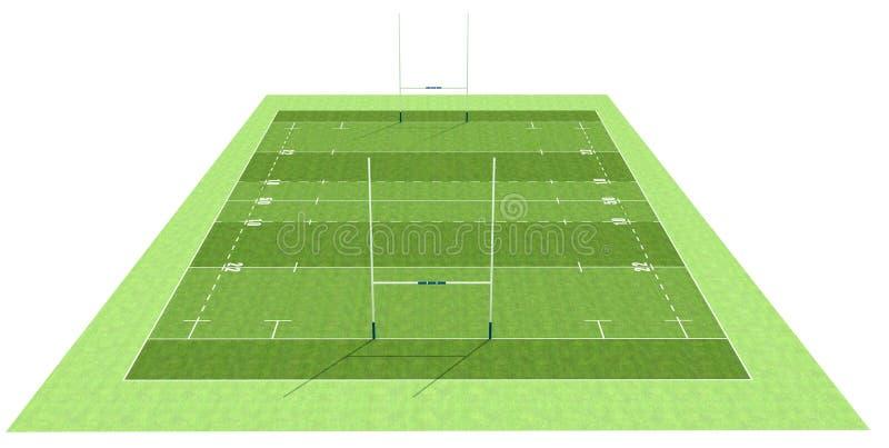 Het gebied van het rugby royalty-vrije illustratie