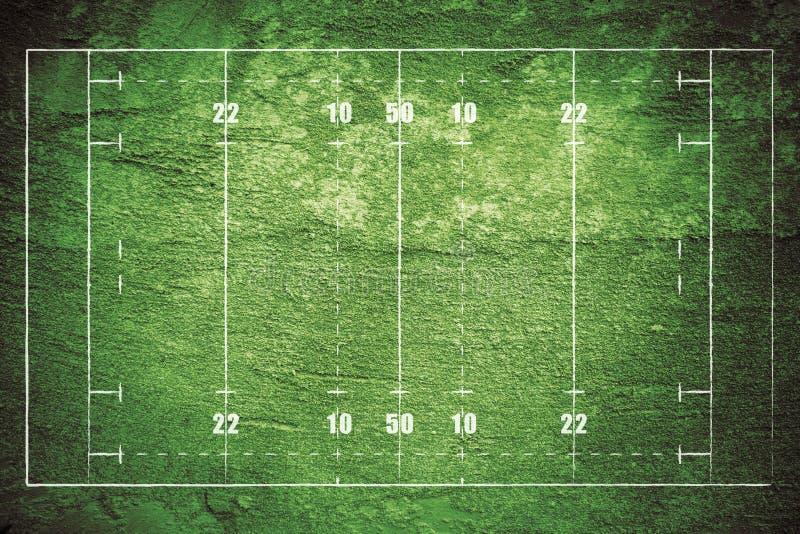 Het Gebied van het Rugby van Grunge royalty-vrije illustratie