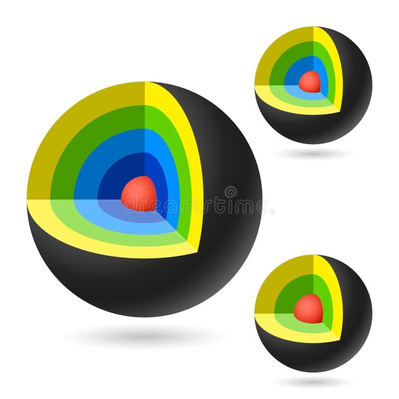 Het gebied van het schema vector illustratie