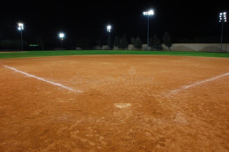 Het gebied van het softball royalty-vrije stock fotografie