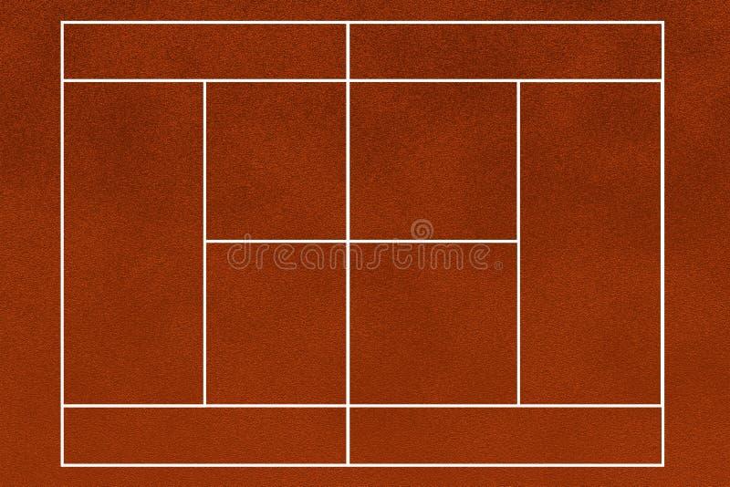 Het gebied van het tennis stock illustratie