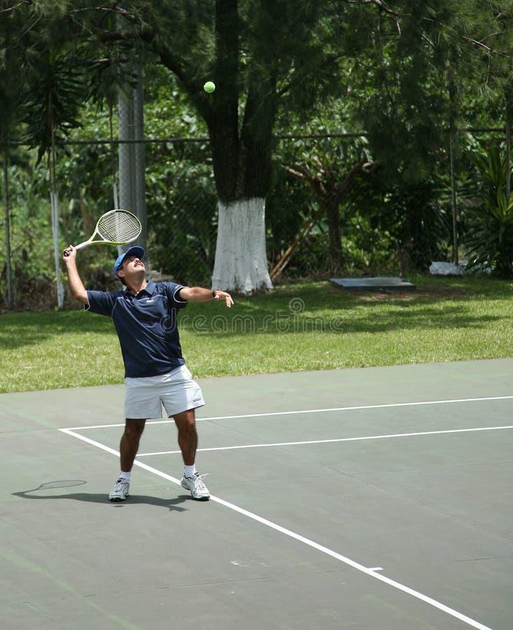 Het gebied van het tennis stock afbeelding
