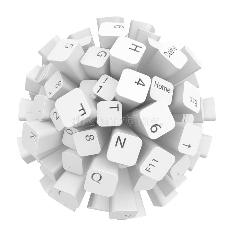 Het Gebied van het toetsenbord royalty-vrije illustratie