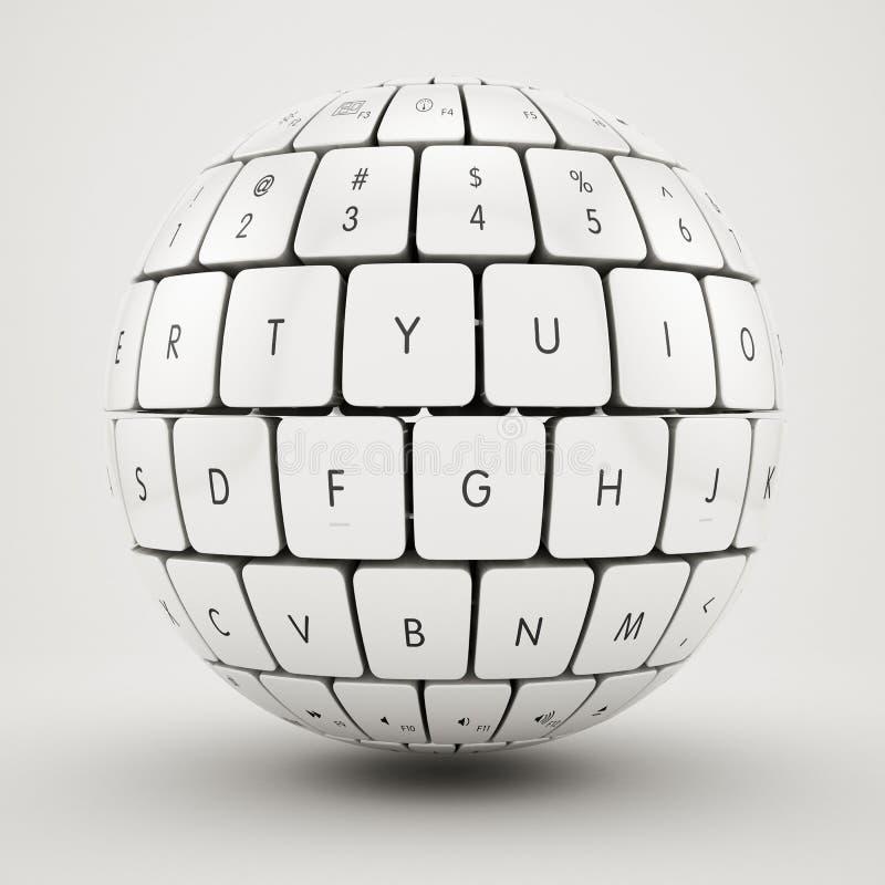 Het gebied van het toetsenbord vector illustratie