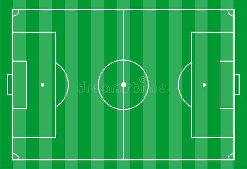 Het gebied van het voetbal van hierboven royalty-vrije illustratie