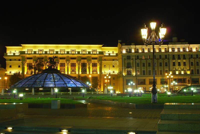 Het gebied van Manege bij nacht stock foto