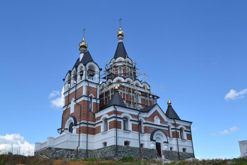 Het gebied van Novosibirsk is Architectuur stock foto's