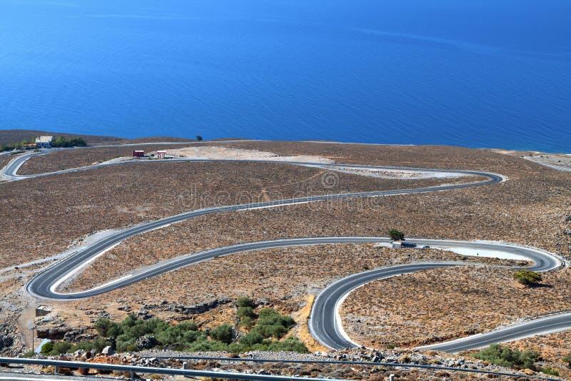 Het gebied van Sfakia bij het eiland van Kreta in Griekenland royalty-vrije stock afbeeldingen