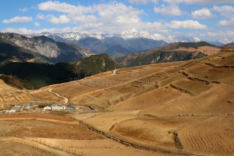 Het gebied van Shangrila, Yunnan, China stock foto's