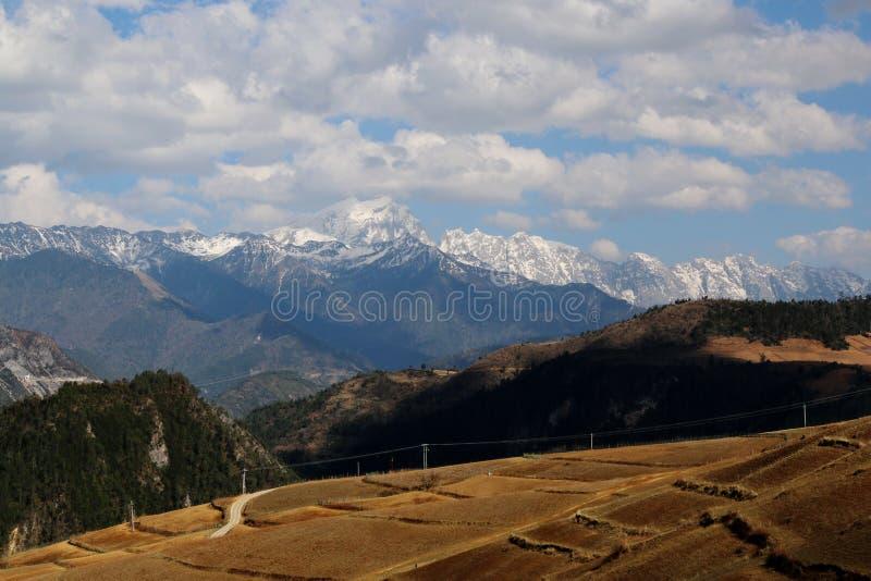 Het gebied van Shangrila, Yunnan, China stock afbeeldingen