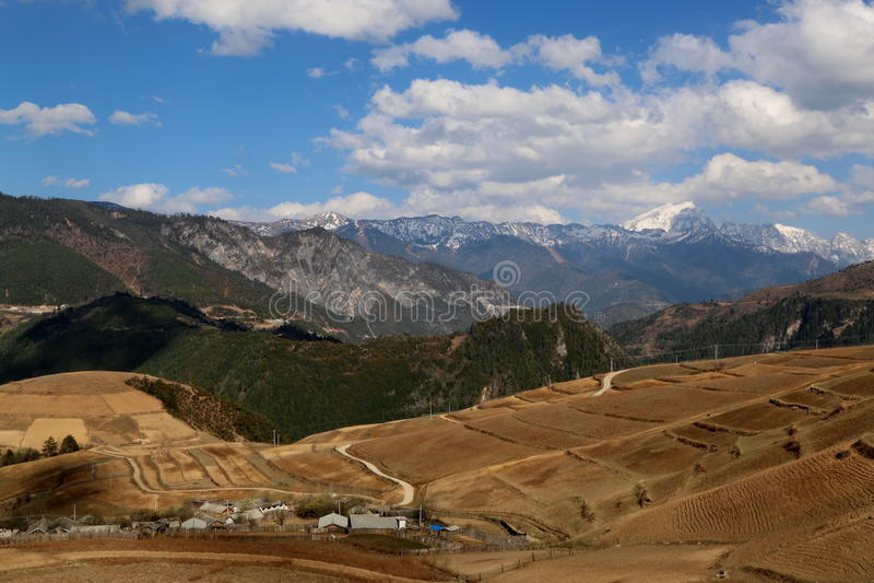Het gebied van Shangrila, Yunnan, China royalty-vrije stock fotografie