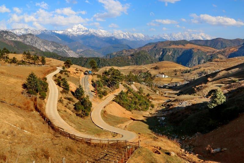 Het gebied van Shangrila, Yunnan, China royalty-vrije stock afbeelding