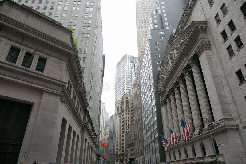 het gebied van Wall Street, Manhattan, New York royalty-vrije stock fotografie