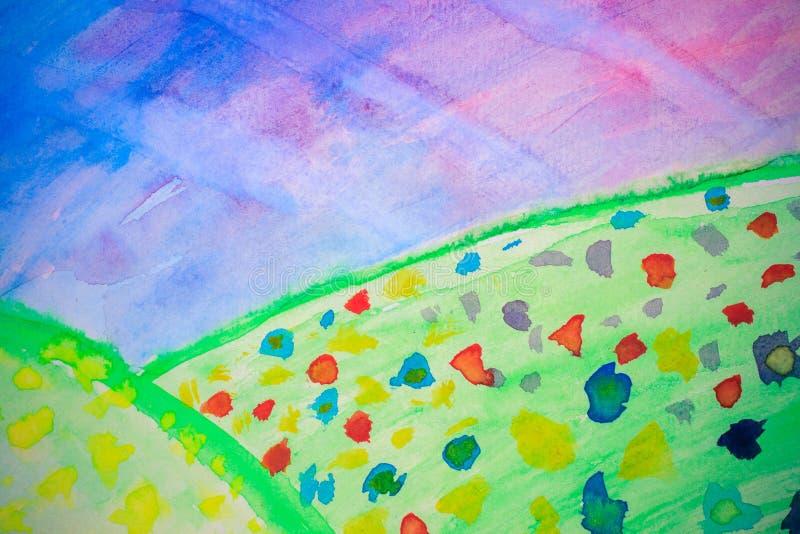 Het gebied van Watercolour stock foto's