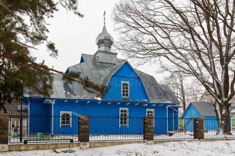Het gebied Wit-Rusland, Kerk van Podsvilevitebsk van St George royalty-vrije stock afbeelding