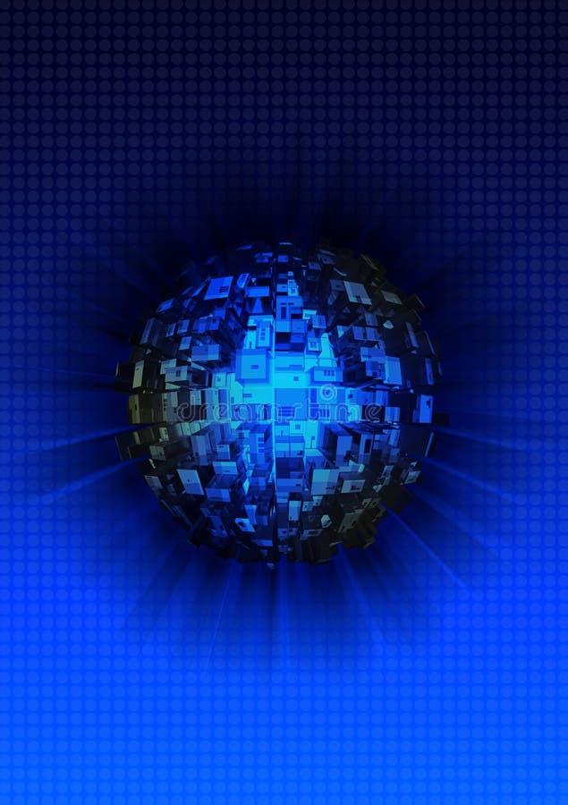 Het gebiedachtergrond van de technologie stock afbeelding