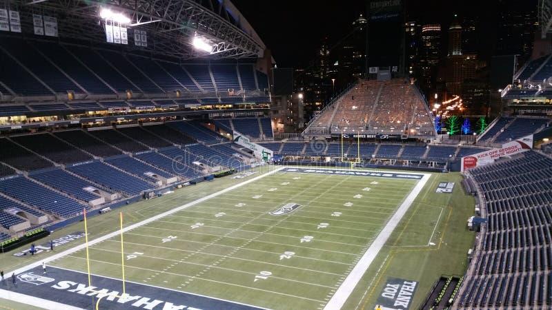 Het gebieds centrelink gebied van de Seattle Seahawksvoetbal royalty-vrije stock afbeelding