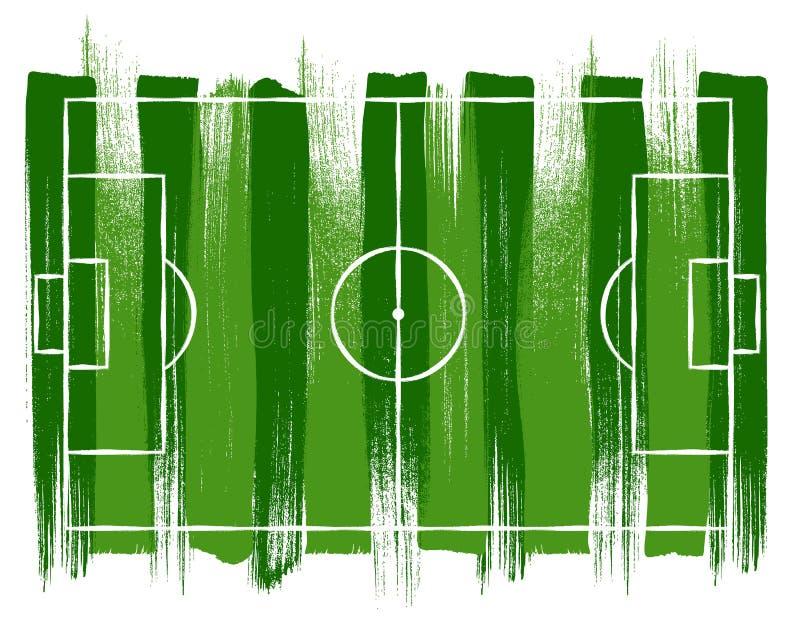 Het gebieds van de voetbalvoetbal vectorillsutration als achtergrond vector illustratie