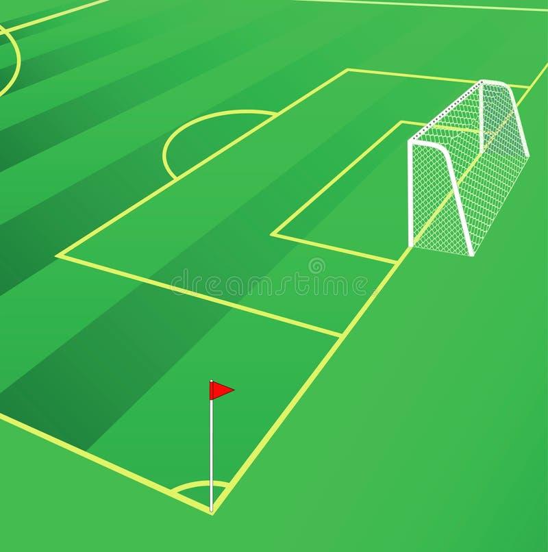Het gebieds vectorillustratie van het voetbal. vector illustratie