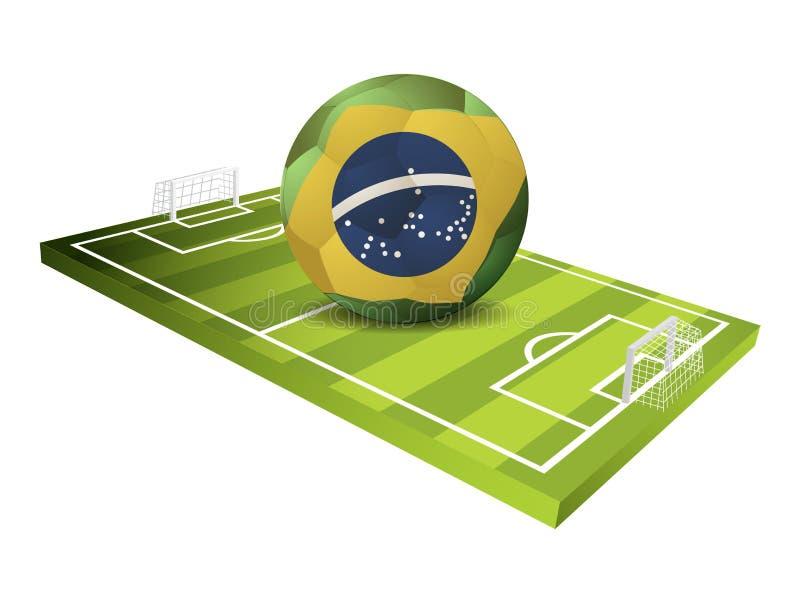 Het gebieds Vectorontwerp van de voetbalsport royalty-vrije illustratie