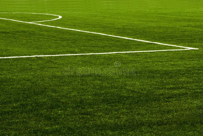 Het gebiedsgras van het voetbal royalty-vrije stock afbeeldingen