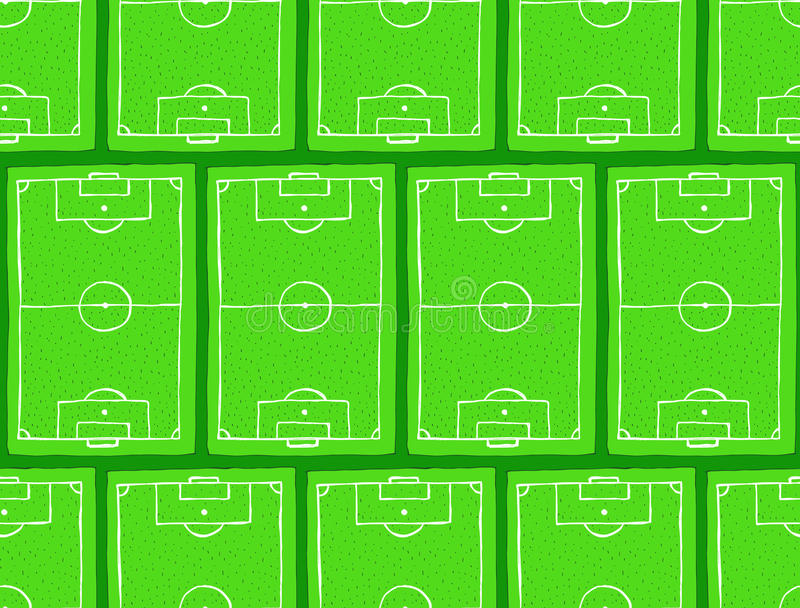 Het gebiedspatroon van de schetsvoetbal stock illustratie