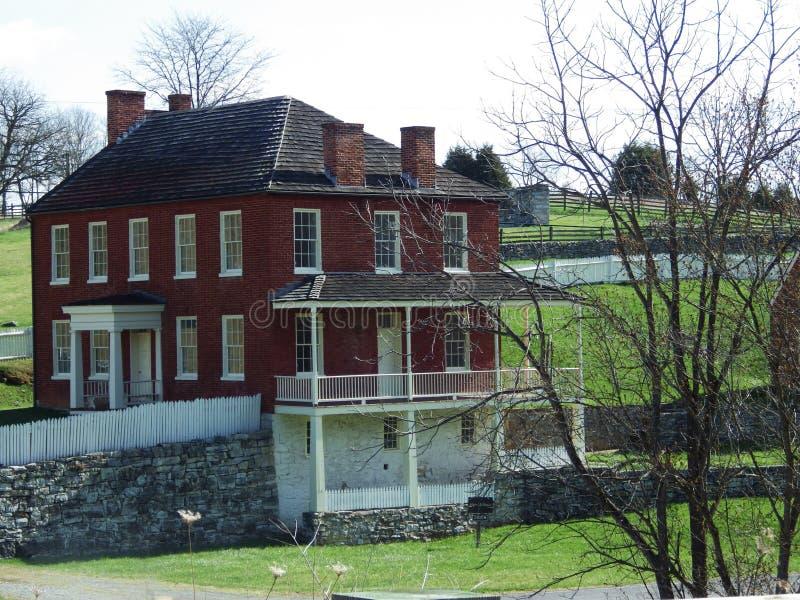 Het het Gebiedsziekenhuis van het koevoethuis, het Nationale Slagveld van Antietam, Maryland stock fotografie