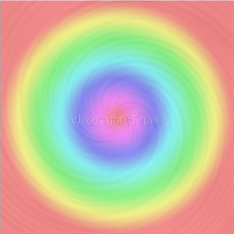 Het geborstelde patroon van de metaalwerveling met pastelkleur kleurrijke cirkels vector illustratie