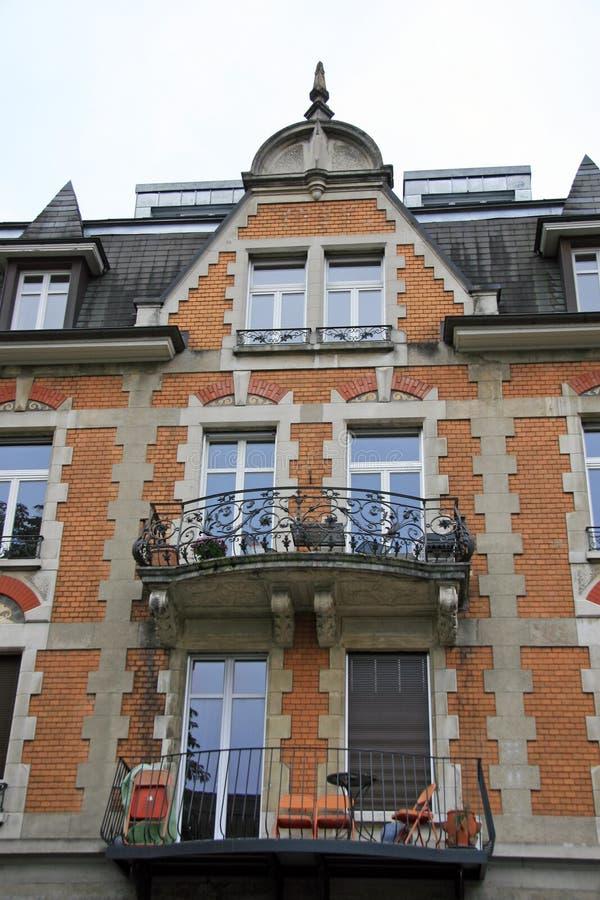 Het gebouw in Brugg royalty-vrije stock fotografie