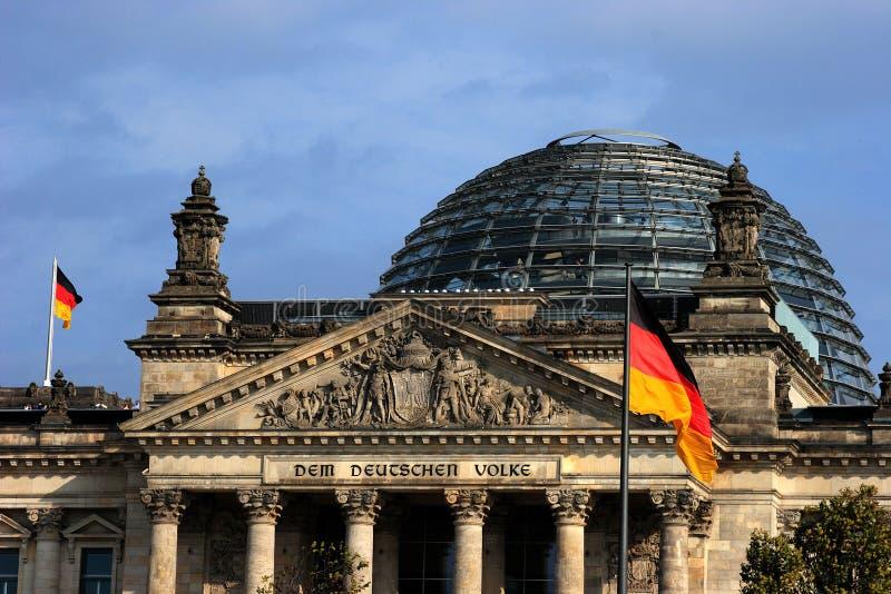 Het gebouw Reichstag stock afbeelding
