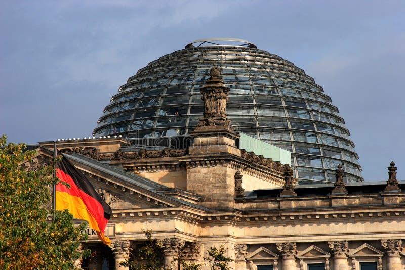 Het gebouw Reichstag stock afbeeldingen