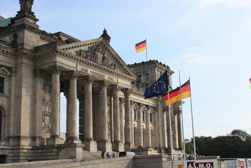 Het gebouw Reichstag royalty-vrije stock fotografie