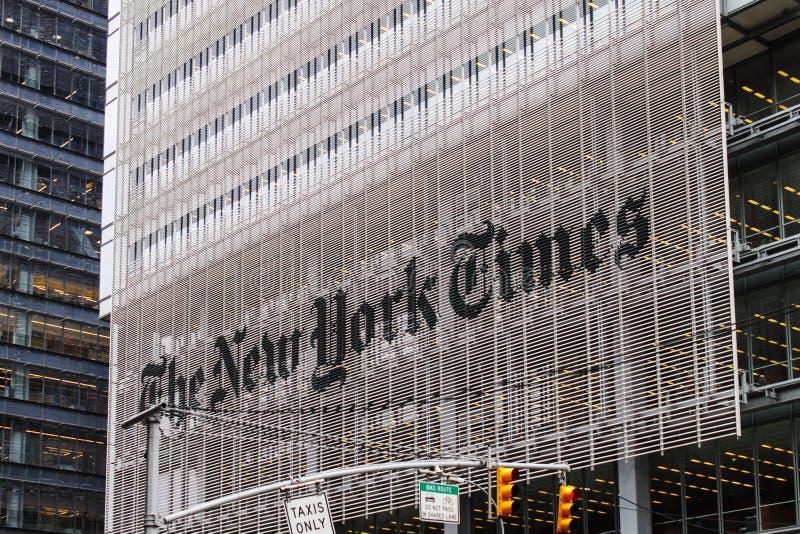 Het gebouw van de New York Times stock foto's