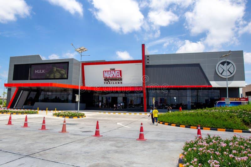 Het gebouw van Thailand van de Wonderervaring in Bangkok Thailand bij MEGAbangna royalty-vrije stock foto