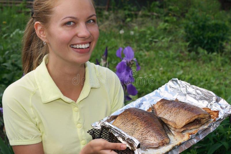 Het gebraden gerecht van vissen royalty-vrije stock foto