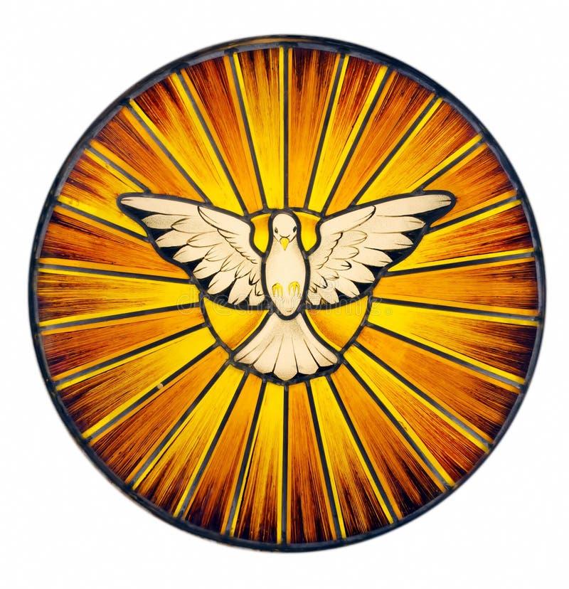 Het Gebrandschilderd glas van de Heilige Geest royalty-vrije stock fotografie
